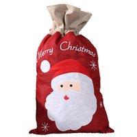 메리 크리스마스 베 선물 가방 S / L 리넨 산타 눈사람 선물 가방 크리스마스 어린이 선물 저장 자루 인쇄하기