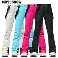 2020 Nuevo invierno de esquí pantalones de las mujeres al aire libre de alta calidad a prueba de viento caliente a prueba de agua nieve pantalones de esquí de invierno snowboard pantalones de marca
