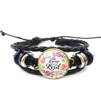 Bracelets de charme, il m'appelle belle un bible verset bracelet en cuir citations inspirantes pour femmes bijoux cadeaux chrétiens
