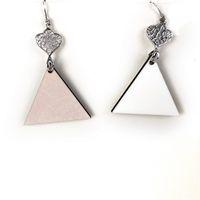 Mode Silber Sublimation Blanks Dreieck Ohrstecker glatt Ohrringe Haken Eardrop Metall Big Drop-Mädchen-Frauen-Dame Beauty Gift 1 8BD C2