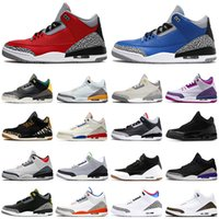 nike air jordan retro 3 3s aj3 Cool Gray 3 Männer Basketballschuhe 3s Cement Red Animal Instinct Infrarot UNC retromens tainer sports Turnschuhe 7-13