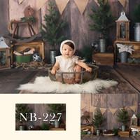 Materiał Boże Narodzenie Vinyl Poginic Prysznic Baby Srick Birthday Party Bows Tackdrop do Studio