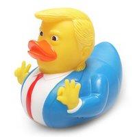 Banhando o bebê Brinquedos US Trump Eleição Duck Bath Toy Shower Fun Rubber Duck Crianças Bath Pato amarelo Party Supplies IIA440