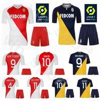2020 2021 Futbol FC Monaco 17 Aleksandr Golovin Jersey Set 4 Cesc Fabregas 10 Stevan Jovetic 25 Kamil Glik Futbol Gömlek Kitleri