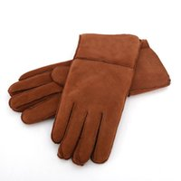 2020 New Luxurious Women Sheepskin Leather Gloves Classical ...