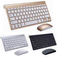 2.4G Wireless Tastatur und Maus Mini-Multimedia-Tastatur-Maus Combo Set für Notebook Laptop-Mac-Desktop-PC TV Bürobedarf