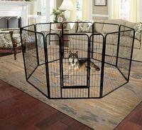 US STOCK haute qualité en gros Cheap Best Large Indoor clôture en métal Puppy Dog Run / Fer chien Playpen W24101525
