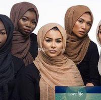 الجملة القطن الكتان الحجاب، والأوشحة التجاعيد، الموضة الجديدة الصوفية والأوشحة أحادية اللون المسلمين، اسلوب جديد التجعيد وشاح