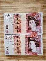 Nachtclub Bar British United Kindom Banknoten 50 Pfund Hinweis für Sammlung oder Business-Geschenke Prop und Falschgeld Papier GBP Preise Bills 49