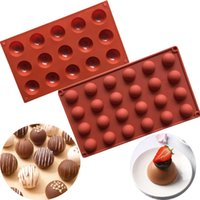 15 24 Half Ball Shaped Mini Truffles Silicone Chocolate Mold...