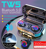 M12 TWS Touch Light Breath Wireless Bluetooth 5.0 Stereo Earphones Sport Headsets Earbuds Bluetooth Headphones