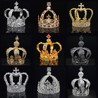 Royal Queen King Tiaras Crown Men Round Diadem Bridal Tiaras and Crowns Headdress Prom Wedding Hair Jewelry Party Ornament Male Y200807
