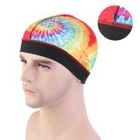 Nuovo unisex tie-dyed uomo Silky Dome Cap Wide Band elastico Cap parrucca fodera del casco del motociclista Beanie Cappello Turbante accessori per capelli
