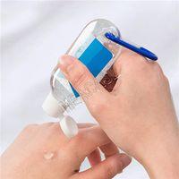 50ml vuoto alcool robitable bottiglia in metallo portachiavi ad anello gancio gel di pulizia della mano sanitizer bottiglie fornibile mini bottiglia di viaggio pacchetto D81212