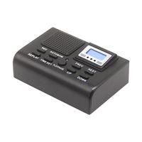 高品質電話ボイスレコーダーロガーモニタークロック機能デジタルオーディオ記録が付いている青いLCDディスプレイ