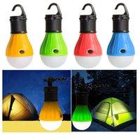 Lanternas portáteis mini lanterna tenda luz ao ar livre lâmpada de acampamento de emergência impermeável gancho de suspensão caminhadas LED bulbo 4 cor 3 *