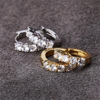 Il nuovo modo jewerly placcato famoso marchio Stud titanio filo di acciaio oro 18 carati Orecchini in acciaio inossidabile classico amore gemma orecchini d'oro.