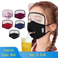 Yeni Yaratıcılık Fermuar Çocuklar Yüz Maskeleri Gözler Shield Entegre Pamuk Fermuar toz geçirmez Nefes Ağız Kapak FY9172 2020MZY Hotsell Maskesi