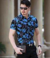 2020 Moda casual de verano de verano Camisa impresa de manga corta Slim Fit hombres seda algodón fino suave cómodo camisas florales