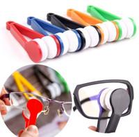 Mini óculos de sol óculos de microfibra escova de óculos de sol de vidro Cleaner Limpeza Espetáculos Clean Tool Escova EEA1903-1