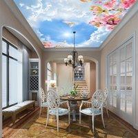 3DHot cielo personalizado escenario natural techo fondo de pantalla clara de la pared del papel del cielo no tejido de revestimiento de paredes mejoras para el hogar a prueba de agua
