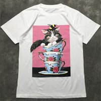 Fashion Mens T Shirt 2020 Famous Street High Quality Cat Cup...