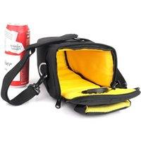 حقيبة كاميرات كتف لون أسود للماء للماء كاميرات نيكون كانون SLR DSLR مع حزام 1000D 1100D 1200D 100D