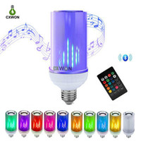 LED Bulb Smart Bluetooth Audio Speaker E27 B22 E26 Flame RGB...