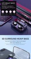 F9M11 بطارية 3500mAh سماعات لاسلكية بلوتوث 5.0 TWS سماعات هاي فاي سماعة تحكم ماء سماعات الأذن التي تعمل باللمس للألعاب الرياضية / لعبة