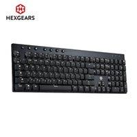 Tastiere HexGears GK1701 Keyboard meccanico 108 Key Kailh Choc Switch PBT Keycap White Retroilluminazione cablata Teclado Gamer Mecanico
