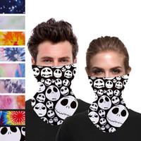 ABD Stok Ucuz Kadınlar Noel Eşarp Yüz İpek Mendil Açık Windproof Yarım Yüz Toz geçirmez Güneşlik Magic Eşarplar Maskeleri FY6098 Maske