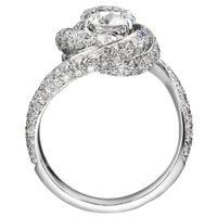 18K AU750 Ring aus Weißgold Frauen Hochzeitstag Verlobungs-Party-Ring drehen Runde Moissanite Diamant-elegante modische nette