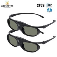 2 unids Universal DLP Shutter Active Shotles 3D 96-144Hz para XGIMI Optoma Acer ViewSonic Theatre Dell Proyector 3D TV