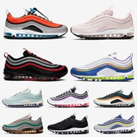 Nike Air Max 97 Cushion Iridiscente UNDEFEATED Triple blanco para hombre zapatillas negras Silver Bullet Metallic Gold South Beach Hombres mujeres deportes Zapatillas