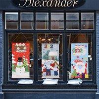 2020 عيد الميلاد الحجر عائلة قناع العلم ثلج سانتا كلوز الباب نافذة تناول الطعام الجدول ستريت دوسال العلم الأزياء عيد الميلاد الحلي F92501