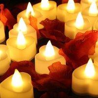 Caliente llevó la luz de las velas de la boda fiesta de cumpleaños de la fiesta de Navidad de Halloween luces decorativas en forma de corazón redondas flash de 24 PC / T500111 conjunto