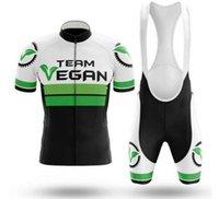 2021 채식 블랙 녹색 사이클링 팀 저지 19D 자전거 팬티 세트 로파 Ciclismo MENS MTB 여름 PRO BICYCLING 타이츠 바닥 의류