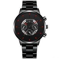 남자를위한 도매 패션 남성 남성 제네바 합금 스테인레스 Armbanduhr 석영 달력 날짜 비즈니스 시계 NEW 도착 손목 시계