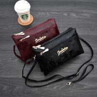 cüzdan Four fermuar uzun debriyaj çanta 3D budak Retro deri cüzdan kesesi femme portfel damski bileklik kadn telefon cüzdan womens