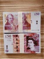 Nightclub Bar British United Kindom BankNotes 50 sterline Nota per la raccolta o i regali aziendali Prop e Fake Money Paper PREZZI GBP Bills 29