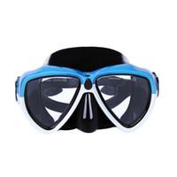 Profissional adulto máscaras de mergulho profundo explosão à prova de explosão e nevoeiro à prova de vidro temperado sílica gel máscara de respiração am-206