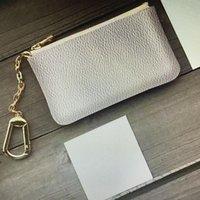 Mode Frauen Männer Schlüsselring-Halter Geldbörse Mini-Mappen-Beutel-Charme-Mono Brown Canvas N62658