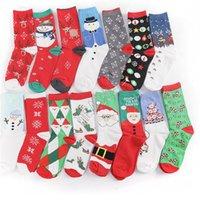 Natale Designers Stocking Xmas Santa Snowman Stampa Inverno Cotton Socks Donne Uomini Calze mezzo polpaccio calza lunga Calze per Festival D82009