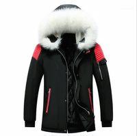 Ceket Kış Orta Uzun Parkas Coats Artı boyutu Moda Kalın Isınma Casual Erkek Giyim 2020 Erkek Designer Aşağı