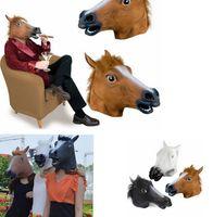 Cosplay Halloween testa di cavallo Mask Party Animal Costume Prop Giocattoli Novel fronte pieno della mascherina della testa KKA8024