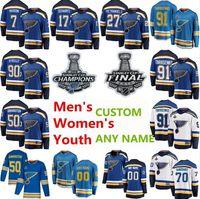 2019 Stanley Cup Champions St Louis Blues Hockey Jerseys Vladimir Tarasenko Jersey Alex Pietrangelo Ryan O'Reilly Binnington Pat Maroon