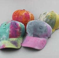 Caps nuovo modo strada colorata Baseball Cap Cappelli Four Season vecchia palla moda per uomo donna cappello registrabile Berretti 4 colori disponibili