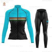 New Jersey Cyclisme Femme manches longues Zootekoi Vêtements d'hiver en polaire cyclisme VTT Salopette Set Blusas Mujer De Moda 2020