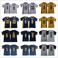 NCAA # 16 Jared Goff 8 Aaron Rodgers 10 Marshawn Lynch 1 Desan Jackson Vic Wharton III California 황금 곰 대학 축구 유니폼