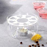 Calefacción base de té del café del agua vela de cristal clara resistentes al calor tetera cálido aislamiento Base sostenedor de vela de té accesorios
